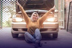 سارة دياب أول فتاة تعمل بميكانيكا السيارات بـ ميت غمر بالدقهلية
